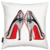 Oliver Gal Fire In Your New Shoes Throw Pillow