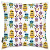 Oliver Gal Easel Robots Everywhere! Throw Pillow
