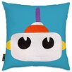 Oliver Gal Easel Robot Head I Throw Pillow