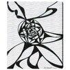 Oliver Gal Oliver Gal Black Vortex Graphic Art on Wrapped Canvas