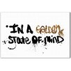 Oliver Gal Oliver Gal State of Mind Textual Art on Wrapped Canvas
