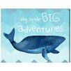 "Oliver Gal ""Little BIG Adventure"" by Olivia""s Easel Painting Print on Wrapped Canvas"