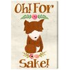 Oliver Gal Runway Avenue For Fox Sake Graphic Art on Wrapped Canvas