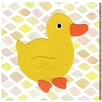 """Oliver Gal """"Duck Kingdom"""" by Olivia""""s Easel Graphic Art on Wrapped Canvas"""
