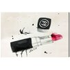 Oliver Gal Oliver Gal Lipstick Stains Painting Print on Wrapped Canvas