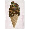 """Oliver Gal """"Chocolate Sprinkles"""" by Olivia""""s Easel Graphic Art on Wrapped Canvas"""