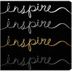 """Oliver Gal """"Inspire Script"""" by Runway Avenue Textual Art on Wrapped Canvas"""