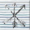 """Oliver Gal """"Silver Arrows"""" by Runway Avenue Graphic Art on Wrapped Canvas"""