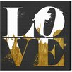 "Oliver Gal ""Real Love"" by Runway Avenue Textual Art on Wrapped Canvas"