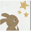 "Oliver Gal ""Bunny and The Stars"" by Olivia's Easel Graphic Art on Wrapped Canvas"