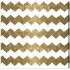 """Oliver Gal """"Chevron Crazy - Gold"""" by Runway Avenue Graphic Art on Wrapped Canvas"""