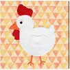 """Oliver Gal """"White Hen"""" by Olivia""""s Easel Graphic Art on Wrapped Canvas"""