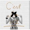 "Oliver Gal ""Cest La Vie"" by Runway Avenue Graphic Art on Wrapped Canvas"