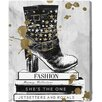 "Oliver Gal ""Boots on Book"" by Runway Avenue Graphic Art on Wrapped Canvas"