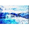 """Oliver Gal """"Blue Iced Mountain"""" by Canyon Gallery Graphic Art on Wrapped Canvas"""