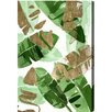 "Oliver Gal ""Tropical Wonders Gold"" by Artana Painting Print on Wrapped Canvas"
