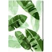 """Oliver Gal """"Tropical Wonders"""" by Artana Painting Print on Wrapped Canvas"""