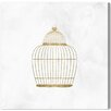 "Oliver Gal ""Bird Cage"" by Runway Avenue Graphic Art on Wrapped Canvas"