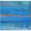 "Oliver Gal ""Aqua Lapsum"" by Artana Painting Print on Wrapped Canvas"