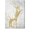 Oliver Gal Artana Majestic Antlers Graphic Art on Canvas