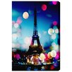 Oliver Gal 'Parisienne at Night' Painting Print on Wrapped Canvas