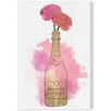 Oliver Gal 'Champagne and Flowers' Painting Print on Wrapped Canvas