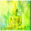 Oliver Gal 'Buddha Neon Lime' Painting Print on Wrapped Canvas