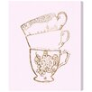Oliver Gal 'Tea Time' Painting Print on Wrapped Canvas