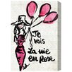 Oliver Gal 'La Vie En Rose' Painting Print on Wrapped Canvas