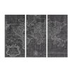 Oliver Gal 'World Map 1778 Triptych' 3 Piece Graphic Art on Wrapped Canvas Set
