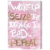 Oliver Gal 'Seize the Day Rose' Painting Print on Wrapped Canvas