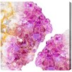 Oliver Gal Silice Mauve Painting Print on Wrapped Canvas