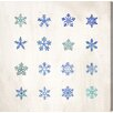 Oliver Gal Snowflakes Graphic Art on Canvas