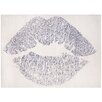 Oliver Gal Glitter Kiss Silver Area Rug