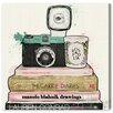 Oliver Gal 'Vintage Cameras and Fashion' Painting Print on Canvas