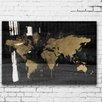 Oliver Gal Oliver Gal Mapamundi Gold High Gloss Canvas Art