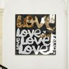 """Oliver Gal Oliver Gal """"Four Letter Word Gold"""" High Gloss Canvas Art"""
