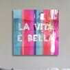 "Oliver Gal Oliver Gal ""Vita Bella"" High Gloss Canvas Art"