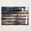 Oliver Gal Rocky Navy Freedom High Gloss Graphic Art on Canvas
