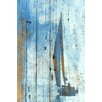 Oliver Gal Blue Sails Painting Print on Wood