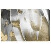 Oliver Gal Royal Feathers Graphic Art on Wrapped Canvas