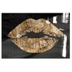 Oliver Gal Solid Kiss Night High Gloss Graphic Art on Wrapped Canvas