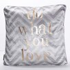 Oliver Gal Do What You Love Throw Pillow