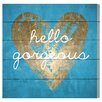 Oliver Gal 'Gorgeous Salute Turquoise' Graphic Art on Plaque