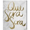 Oliver Gal 'Que Sera Gold' Textual Art on Wrapped Canvas