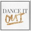 Oliver Gal 'Dancing Out Gold' Textual Art on Wrapped Canvas