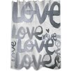 Oliver Gal Oliver Gal Home Four Letter Word Shower Curtain