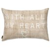 Oliver Gal Holiday 'With All My Heart' Lumbar Pillow