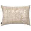 Oliver Gal Holiday 'Spread the Love' Lumbar Pillow