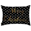 Oliver Gal Holiday 'Merry Dots' Lumbar Pillow